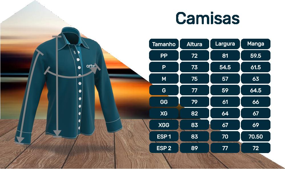 TABELA DE MEDIDAS Camisas3